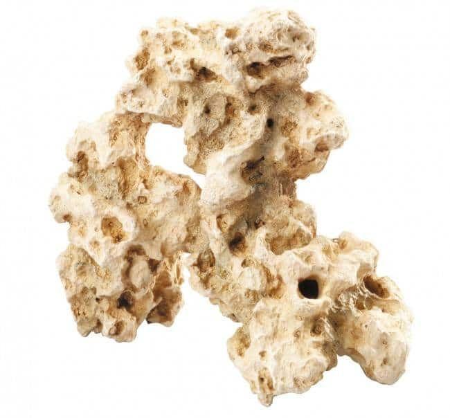 Witte rotsblokken als aquarium decoratie geven net dat beetje extra in je…
