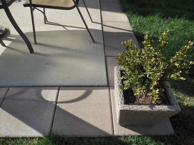DIY Patio Expansion   Add Pavers Around Builder Grade Patio To Add More  Space And Visual Interest.