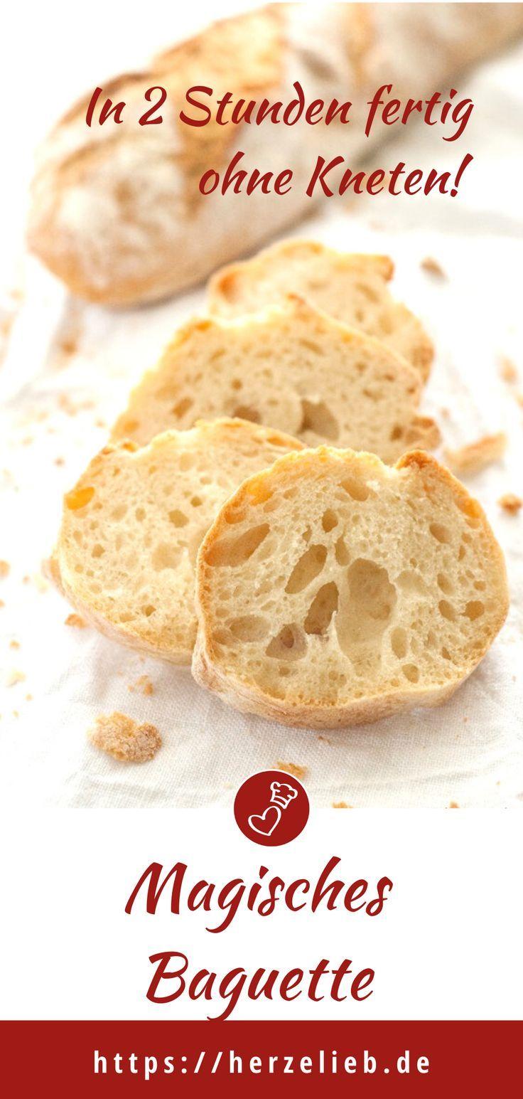 Das magische Baguette - Rezept für ein 2 Stunden Brot