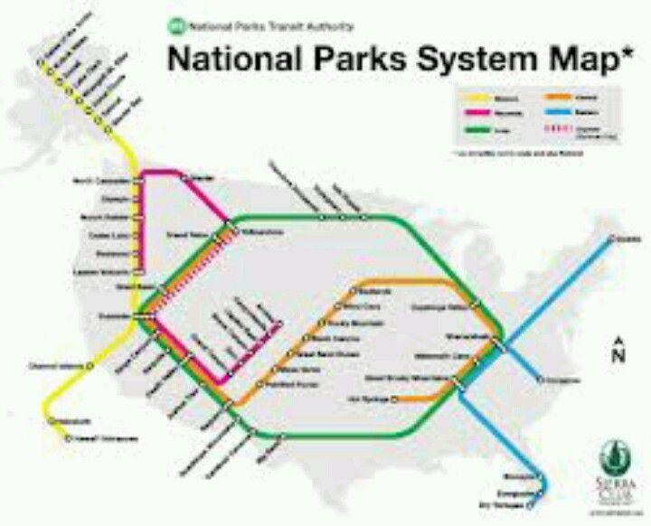National Parks system map | Infographics | Pinterest | Park, Trip ...