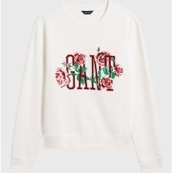 Photo of Gant Rosen Print Sweatshirt (Hvit) GantGant