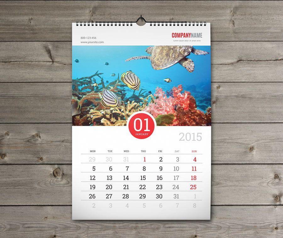 Typography Wall Calendar : Firmowy reklamowy kalendarz wieloplanszowy kw w