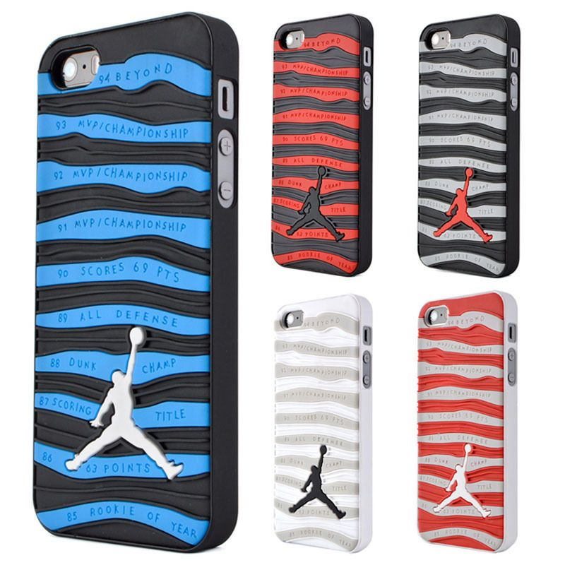new arrival d8918 daebb Original Couple Stripe Jordan Sole Shockproof Soft Case For iPhone 7 ...