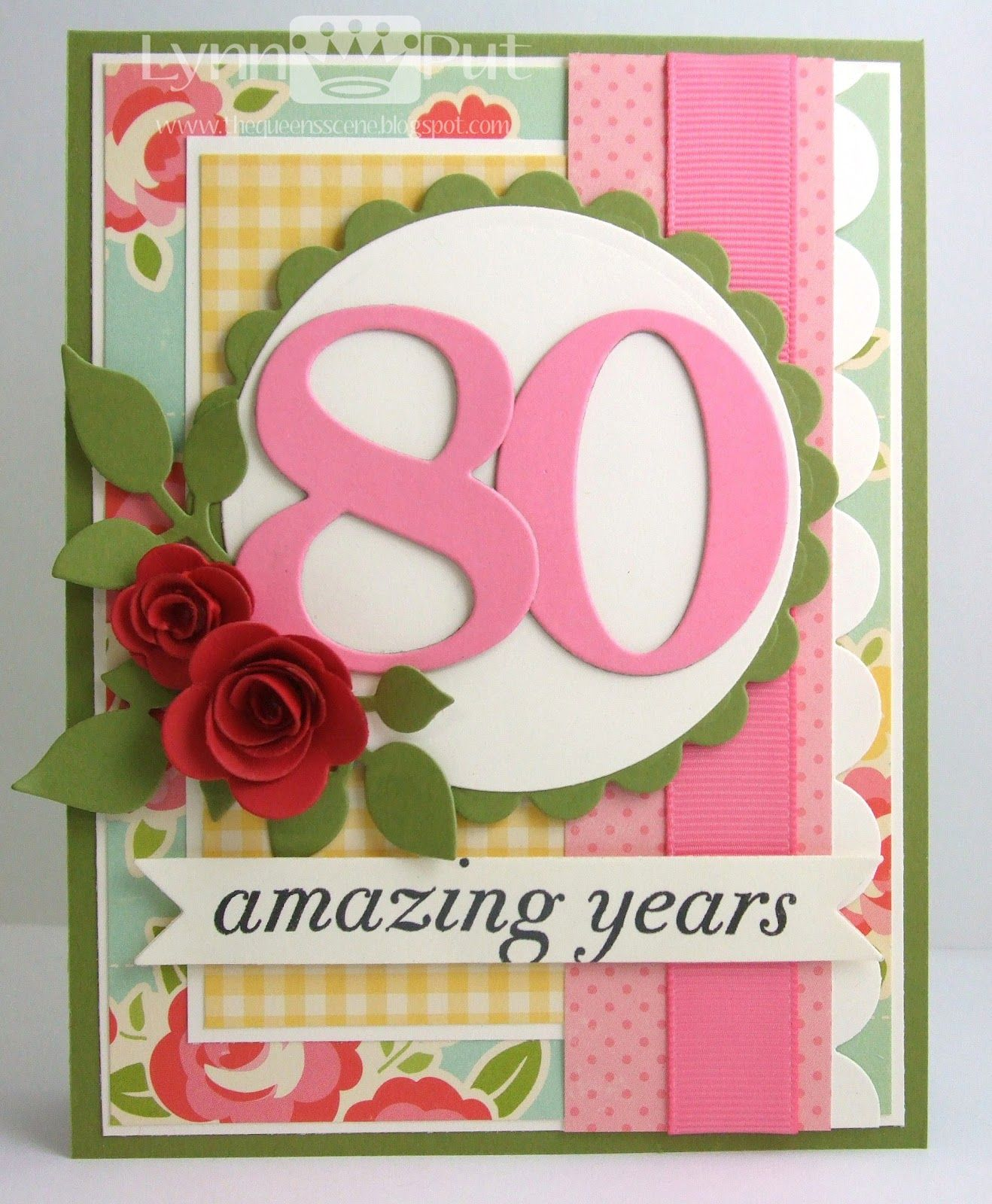 The Queens Scene Big Birthday Wishes 80th Cards Handmade Greeting