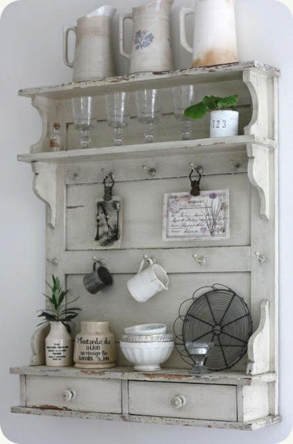 Shabby Shic Möbel mit vintage Look - Beispiele und DIY Ideen