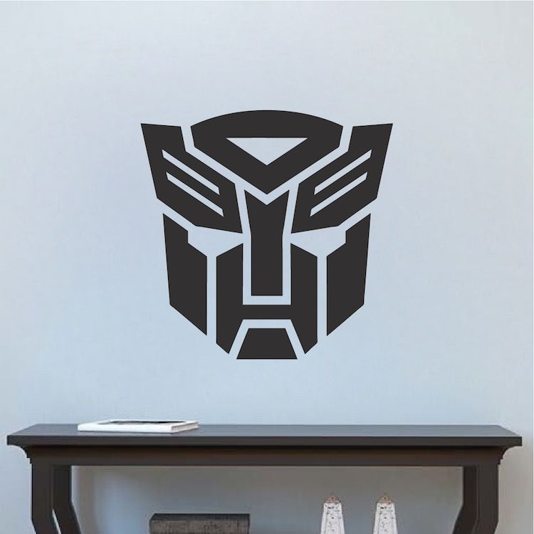 Autobot Logo Transformer Bedroom Decor _ Transformer Logo Wall Mural _  Transformers Optimus Prime Wallpaper _