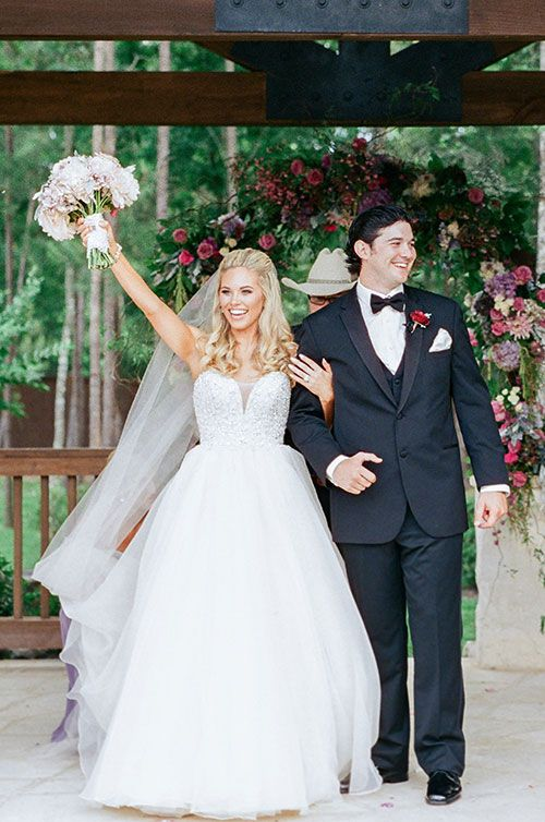 A Wedding Planners Rustic Romantic Texas Bride And Groom After Ceremony