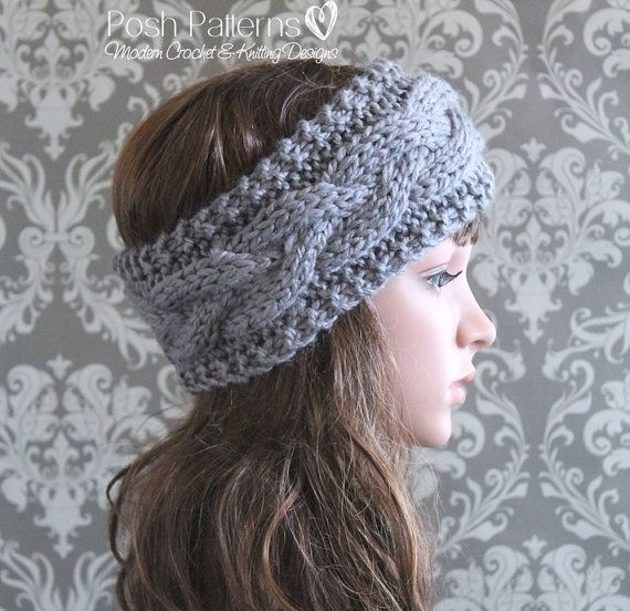 Knitting Pattern Cable Knit Headband Pattern Knit Ear Warmer