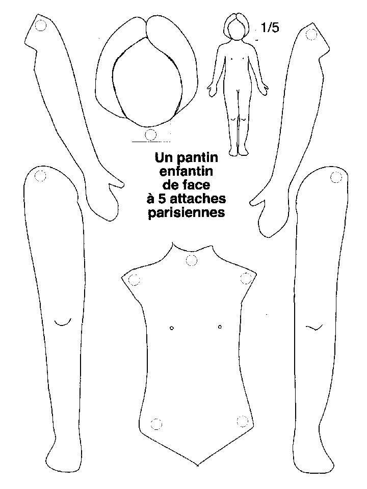 S quence sur le corps ms gs gardiennage pantin marionnette papier et pantin articul - Coloriage corps humain maternelle ...