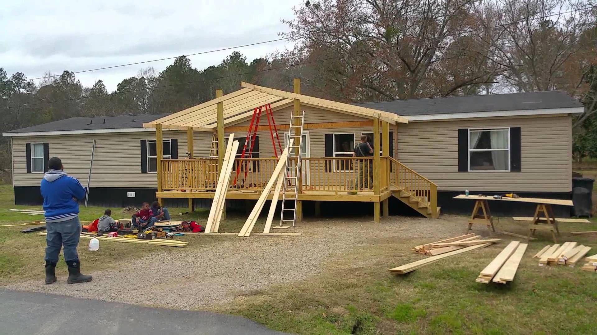 Deck roofframing it up deckframing house front