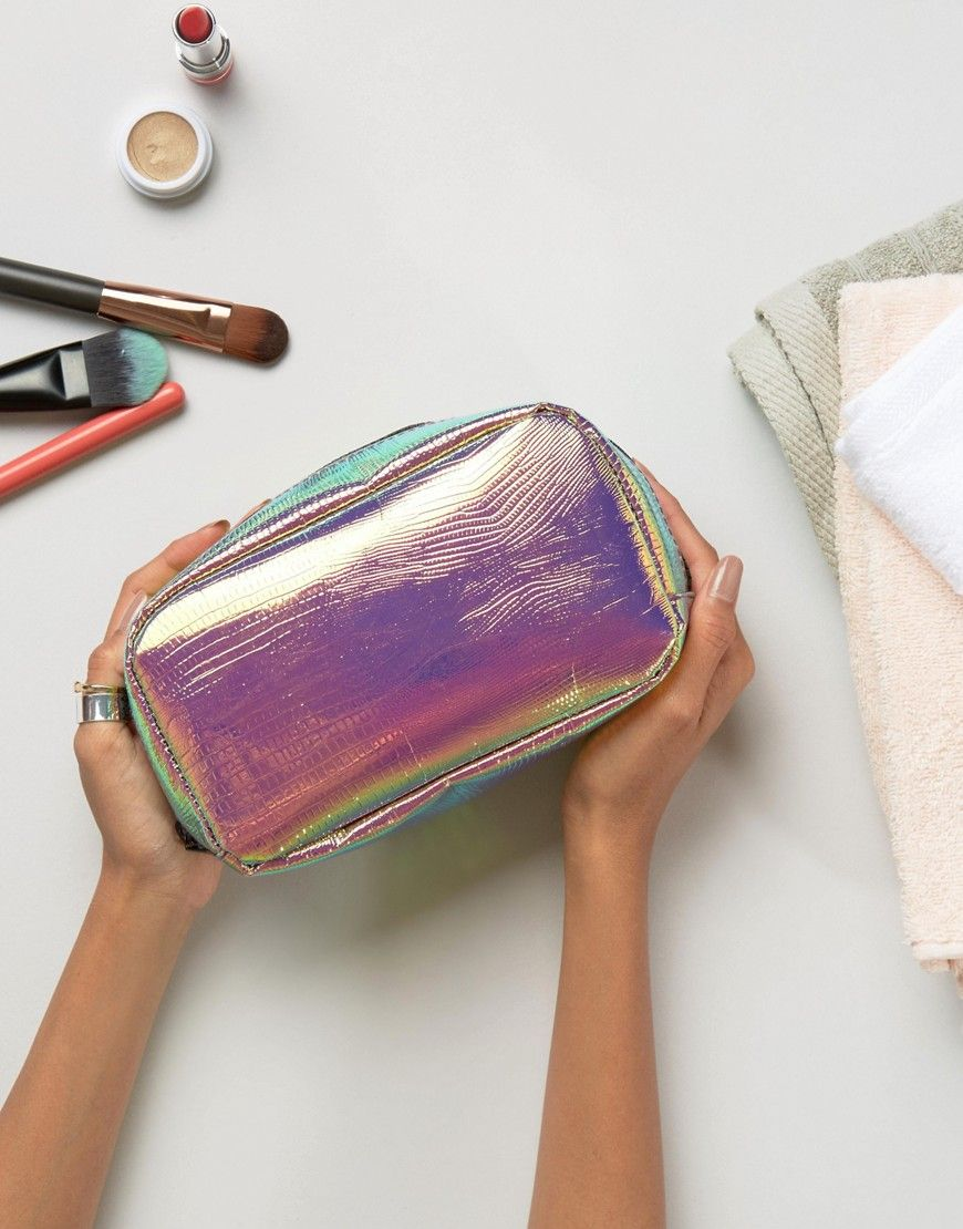 Large Holographic Makeup Bag Want It. Need It