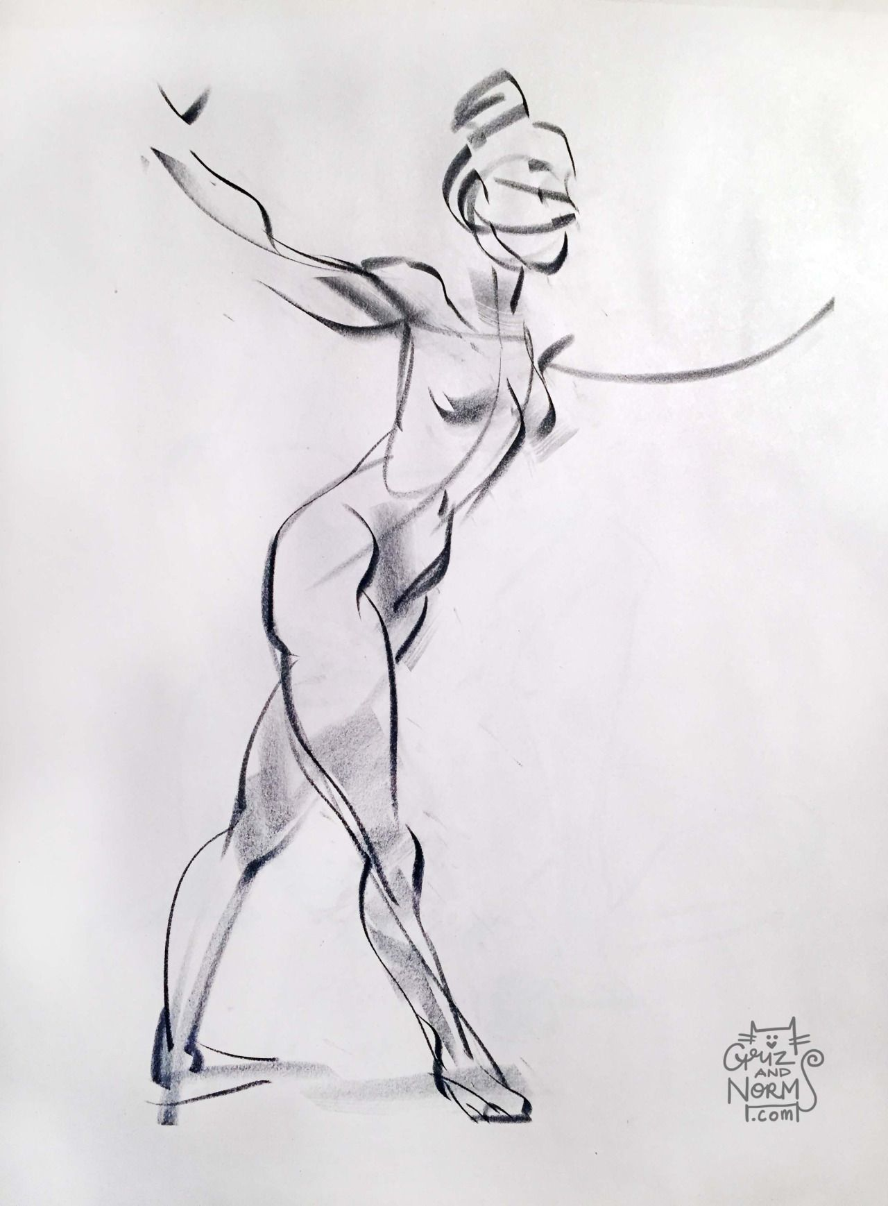Figure Drawing 012915 Conte Stick B Notice The Boots On The