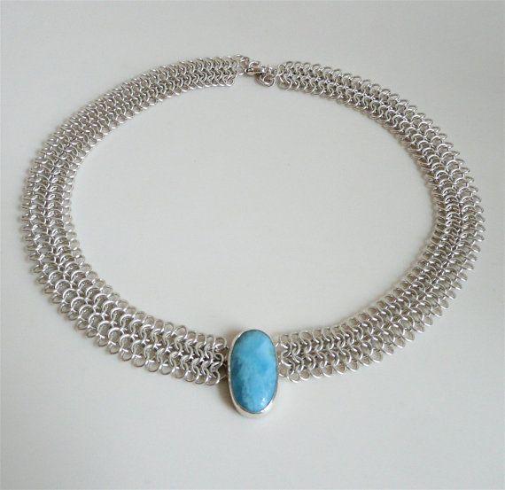 Nathis larimar gemstone Pendant