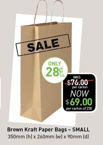 Brown Kraft Bags - Small. http://www.smartbag.com.au