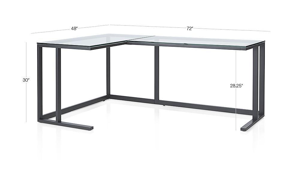 Image With Dimension For Pilsen Graphite Corner Desk