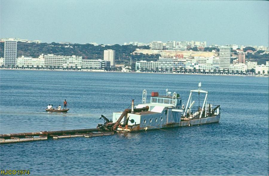 Luanda vista da Ilha em 1973