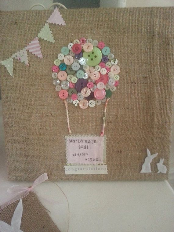 Personalised button art canvas hessian burlap by flutterbybazaar new baby gift personalised button art canvas hessian burlap baby shower christening gift newborn easter gift negle Gallery