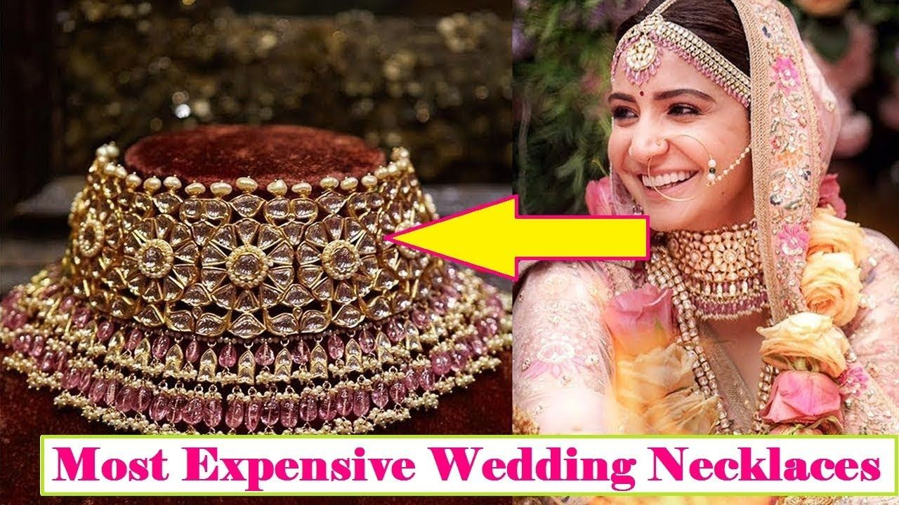 8 Most Expensive Wedding Necklaces Of Bollywood Divas Anushka Sharma Wedding Expenses Necklace Types Wedding Jewelry