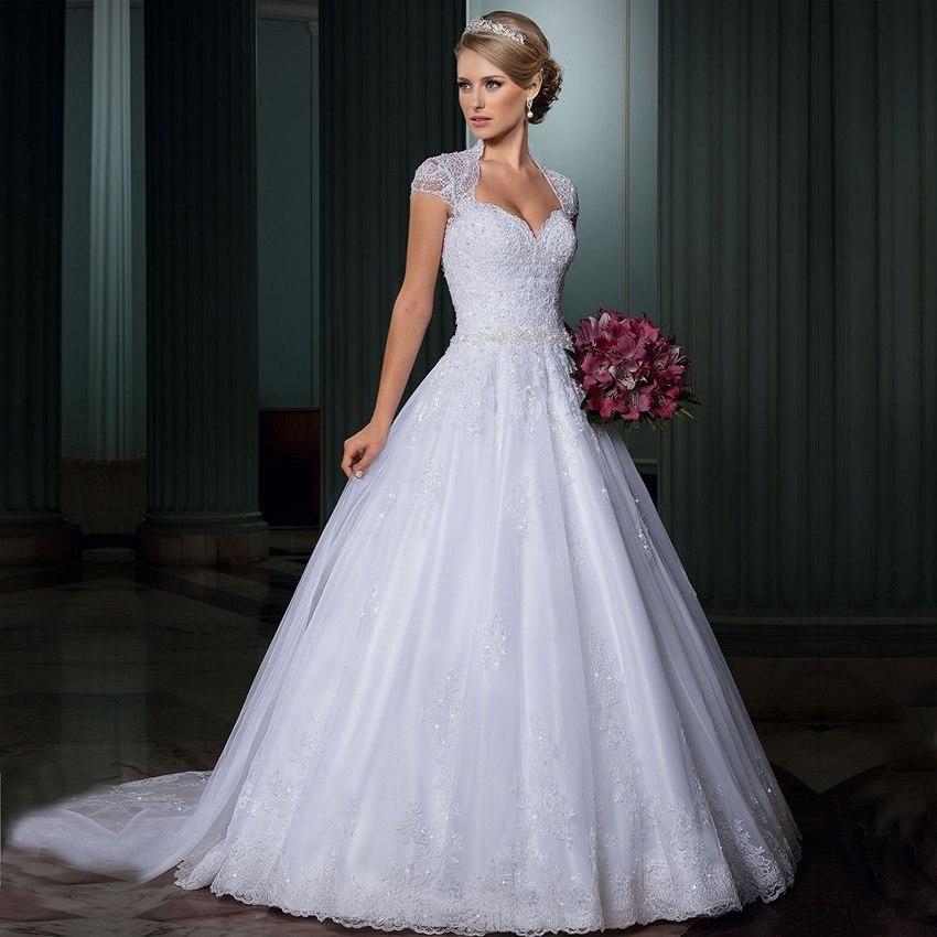Jeanne Love Royal Sweetheart A Line Wedding Dresses 2019: Vestidos De Noivas Lace A Line Plus Size Wedding Dress