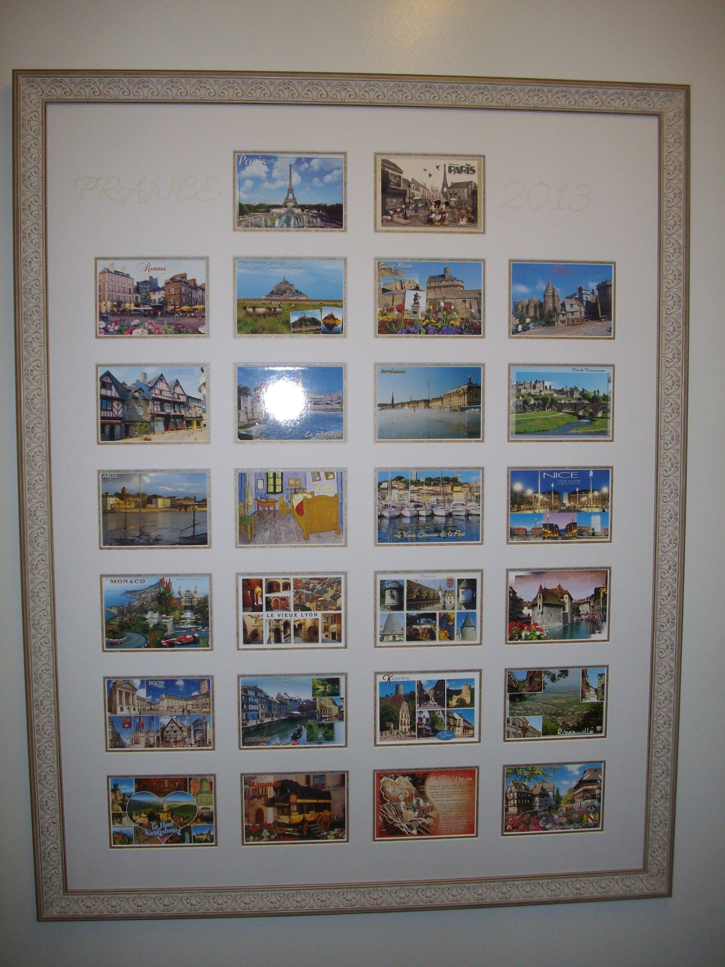 Travel #Postcards Framed by Framing to a T | Postcards and other ...