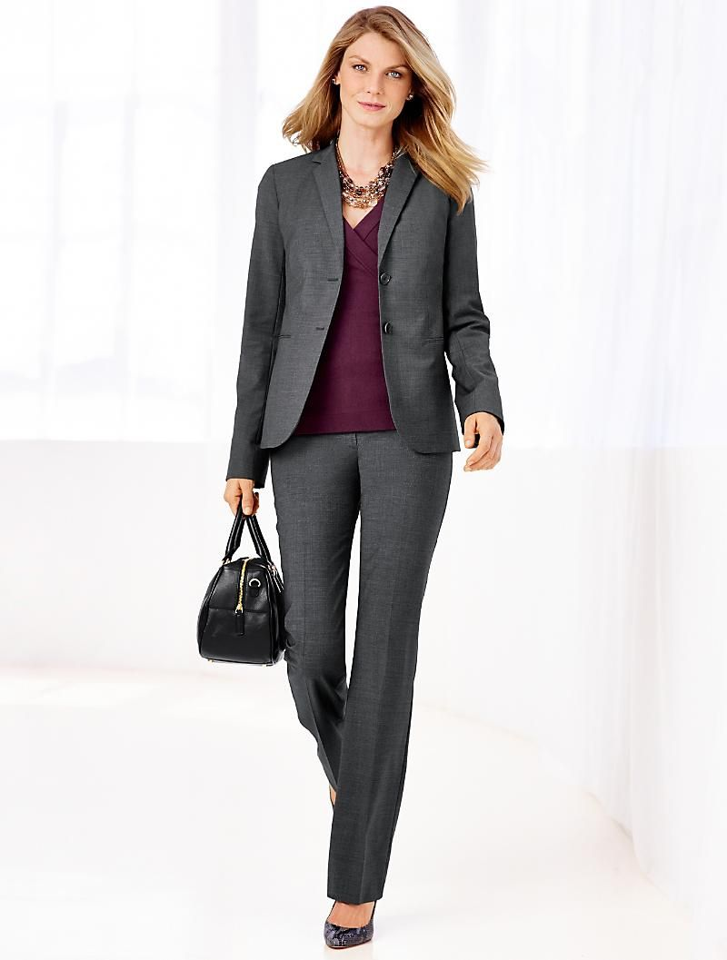 Talbots plus size dress pant suits