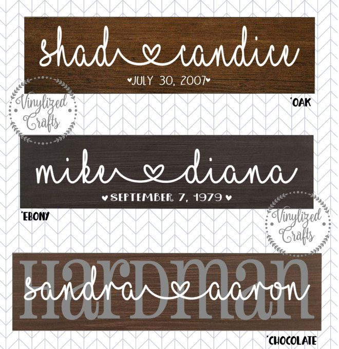 Custom Vinyl Decal For Couplewedding Gift By VinylizedCrafts On - Custom vinyl decals for crafts