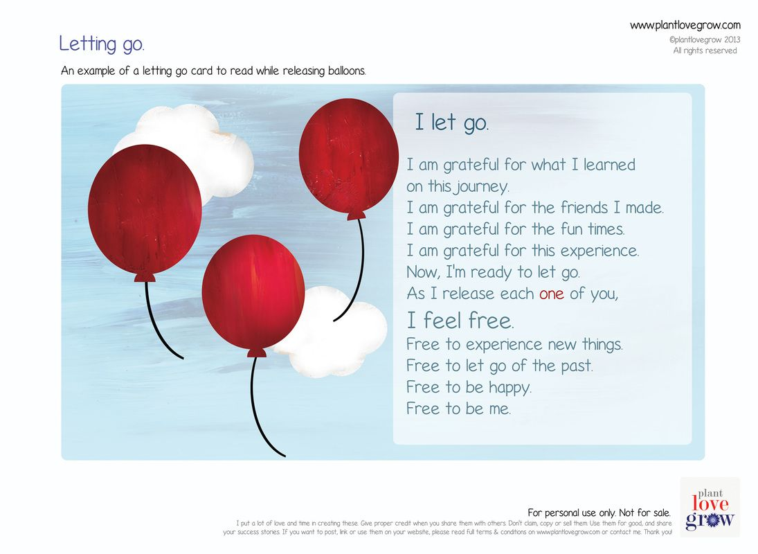Dealing With Our Feelings When Letting Go