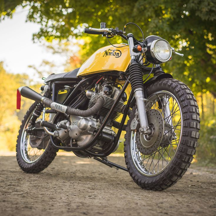 The Indoor Seclusion Of An Icy Winter Led To This Custom Norton Commando Designed Conquer All Terrain Its From Vermonts Vintage Steele Workshop