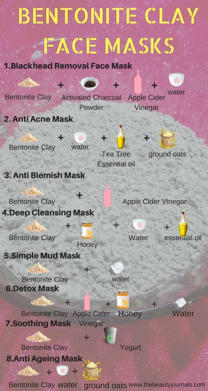 BENTONITE CLAY FACE MASKS Bentonite clay face mask, Face