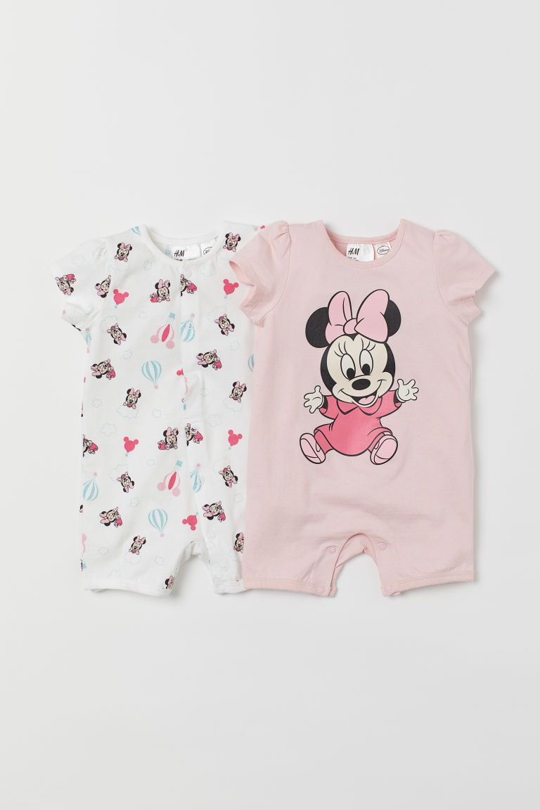 Cute Disney Star Minnie Mouse Newborn Jumpsuit Unisex Baby Romper Infant Clothes