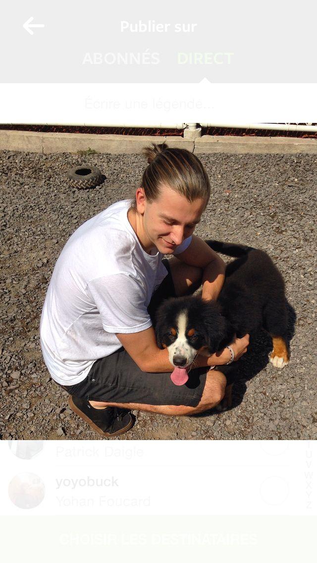 #goals #fresh #dog #puppy #boy #hot #littledog #black #tan #manbun #cool