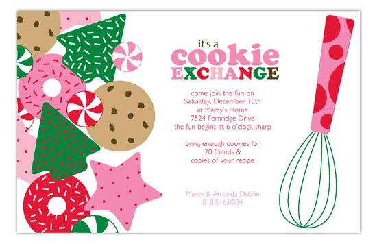 Its A Holiday Cookie Exchange Invitation Christmas Cookie Swap