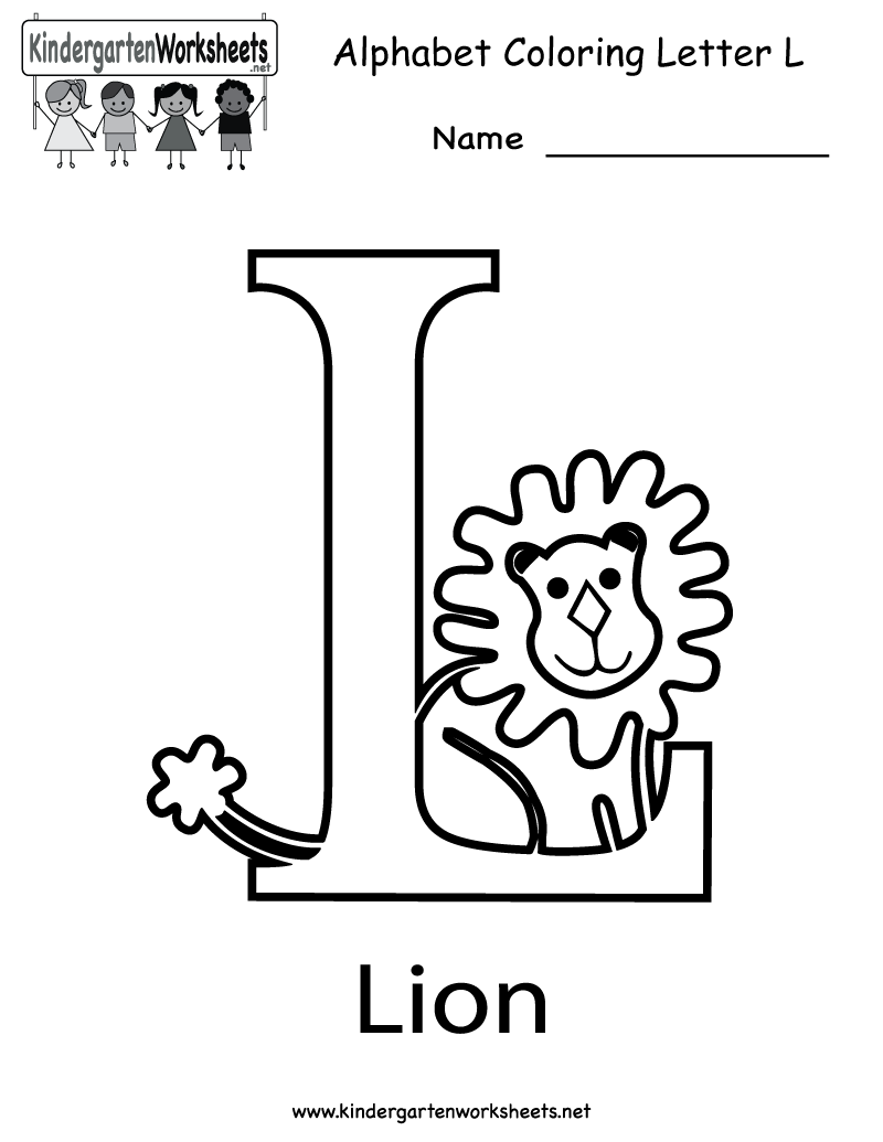 worksheet Letter L Worksheets kindergarten letter l coloring worksheet printable worksheets printable