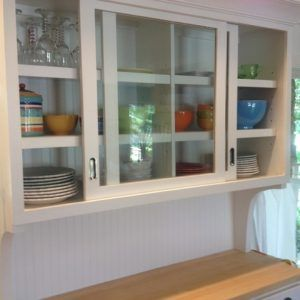 Kitchen Wall Cupboards With Sliding Doors