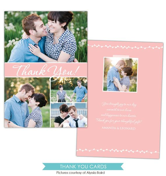 INSTANT DOWNLOAD  Wedding Thank You card  Photoshop by birdesign, $8.00