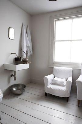Bathroom with a chair! #bathroom #chair #white