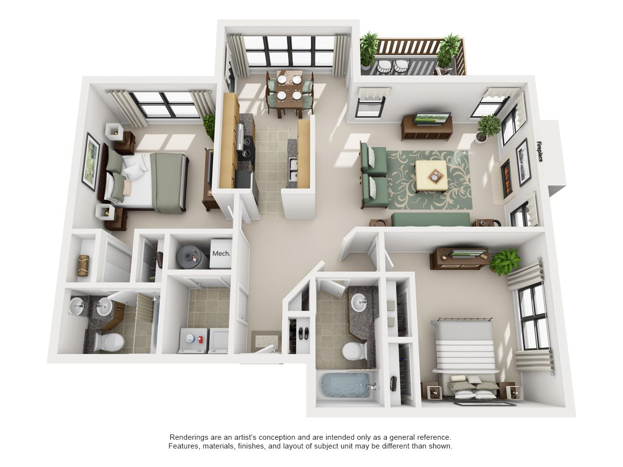Studio 1 2 Bedroom Apartments In Smyrna Ga My House Plans Apartment Layout Apartment Plans