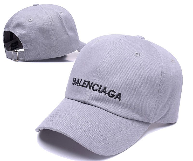 11fe97cce3a1 Men s   Women s Balenciaga Classic Balenciaga Logo Embroidery Baseball  Adjustable Hat - Grey   Black