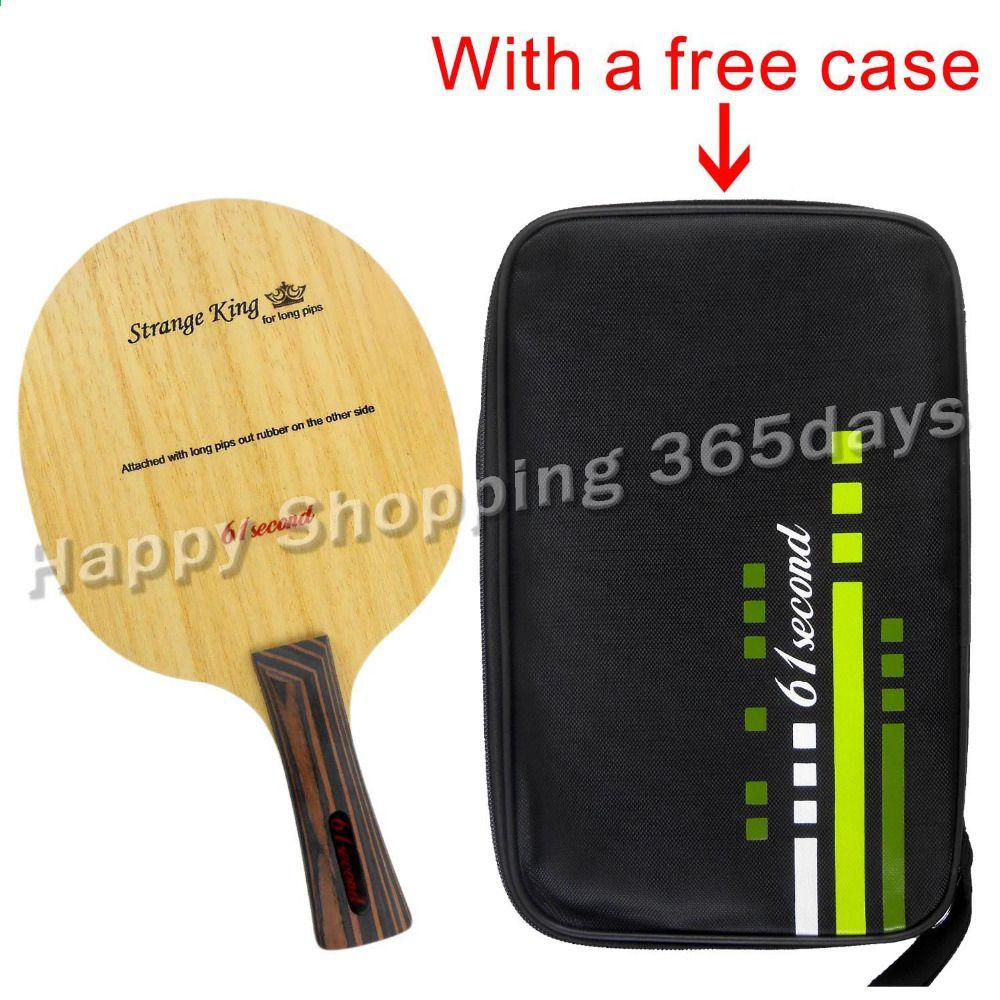 61second Maerkelig King Bordtennis Pingpong Blade Shakehand Med En Gratis Cover Table Tennis Racquet Sports Racquets