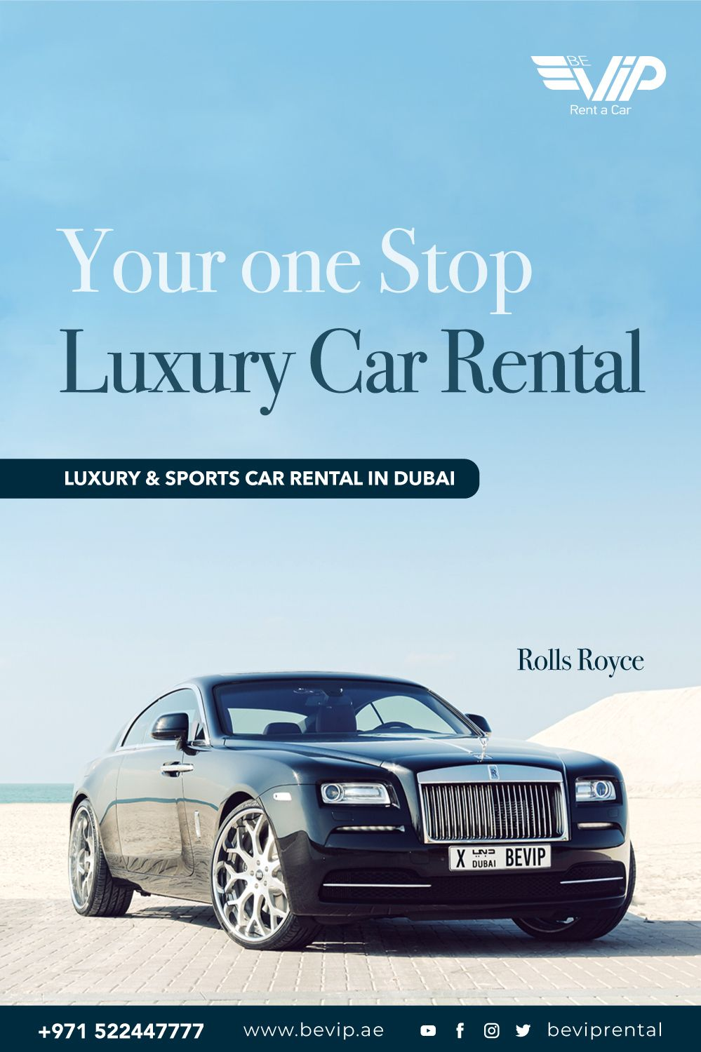 The New Rolls Royce Wraith From Be Vip Luxury Car Rental In Dubai Is All In One Product Which Provides Beauty Power A Rolls Royce Rolls Royce Wraith Car Rental