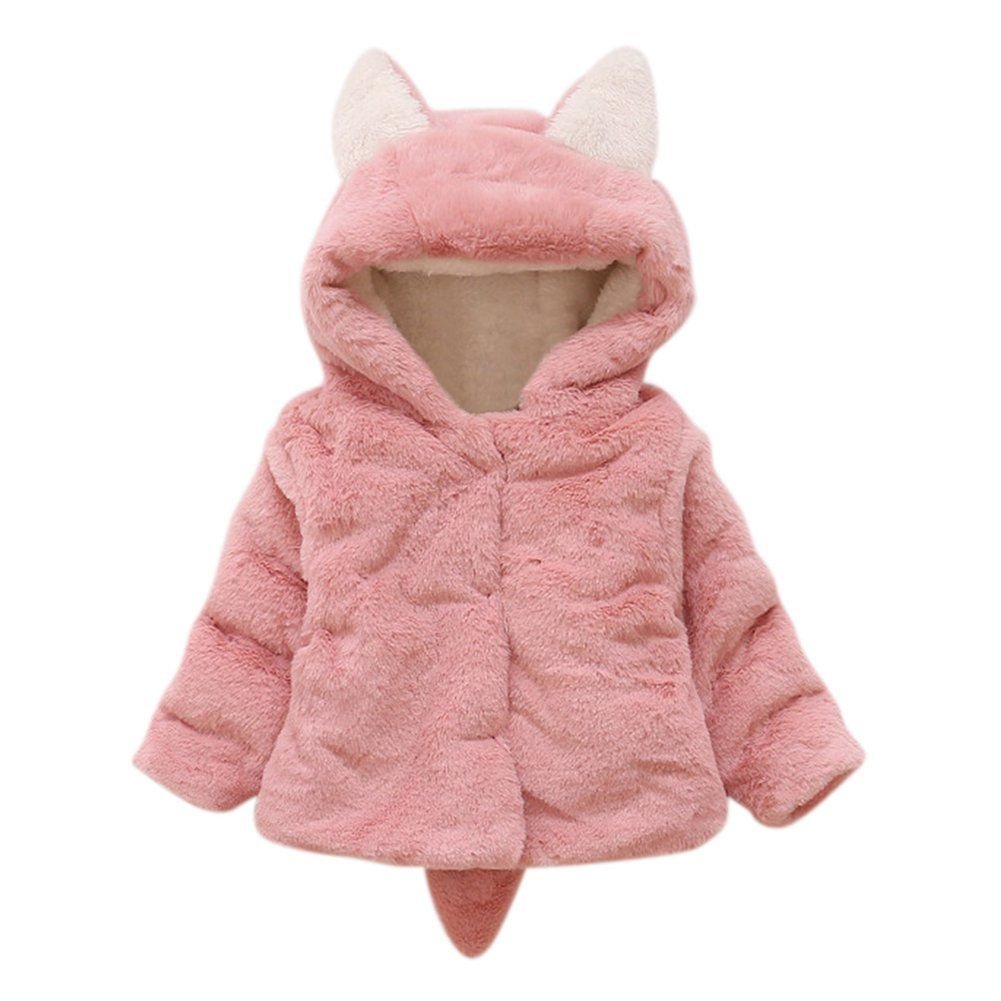Lifestyler Girl Winter Faux Fur Coat Cloak Jacket Thick Warm Fashion Button Outwear