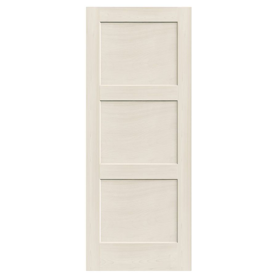 24 In X 80 In Primed 3 Panel Square Solid Core Smooth Non Bored Glass Interior Slab Door With Images Slab Door Interior Closet Doors Solid Core Interior Doors