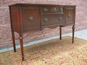 We Have The Same Dining Buffet That Was Handed Down To Use Yes I Like To Mix Antique And Modern Furn Mahogany Sideboard Antique Buffet Refinishing Furniture