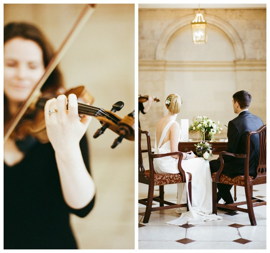 Violinist Playing For The Bride And Groom Set In The Gorgeous Elegant Setting Of Dublin City Hall At Their Wedding Ceremony Wedding Dublin City Elegant Wedding