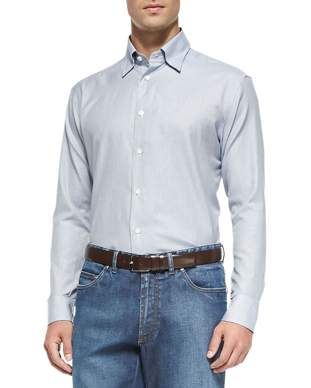 Longsleeve mini houndstooth shirt blue products pinterest