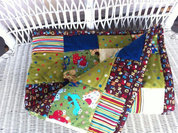 Dinosaur Patchwork Quilt  Toddler Size 50 x 39 by SeasonsofLoveBtq, $75.00