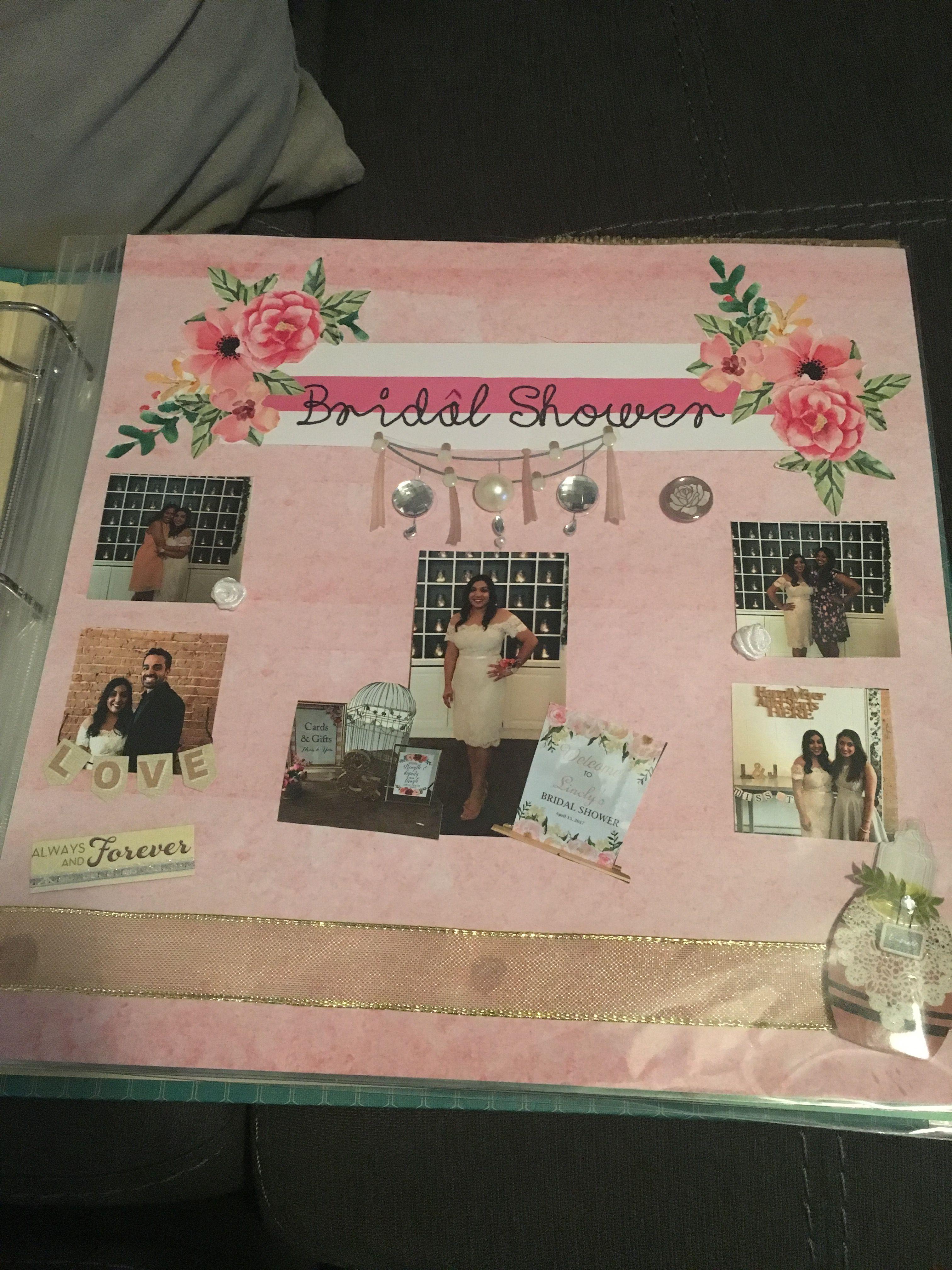 Scrapbook from bridesmaids to bride bridal shower Bride