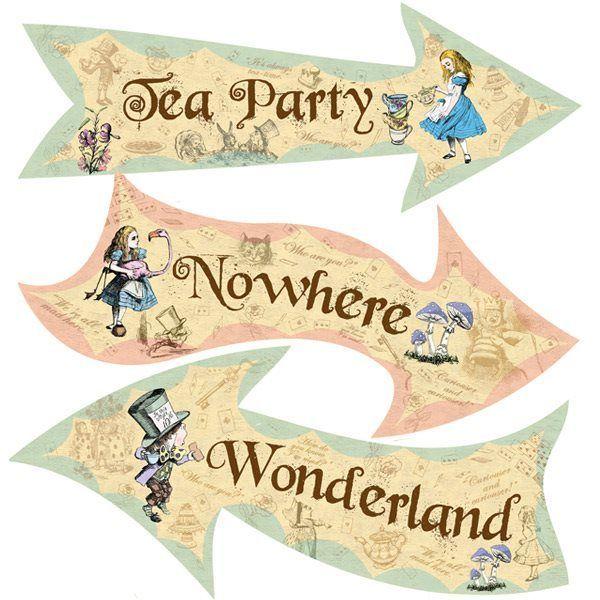 Image Result For Free Junk Journal Vintage Printables Alice In Wonderland Sign Alice In Wonderland Printables Alice In Wonderland Tea Party