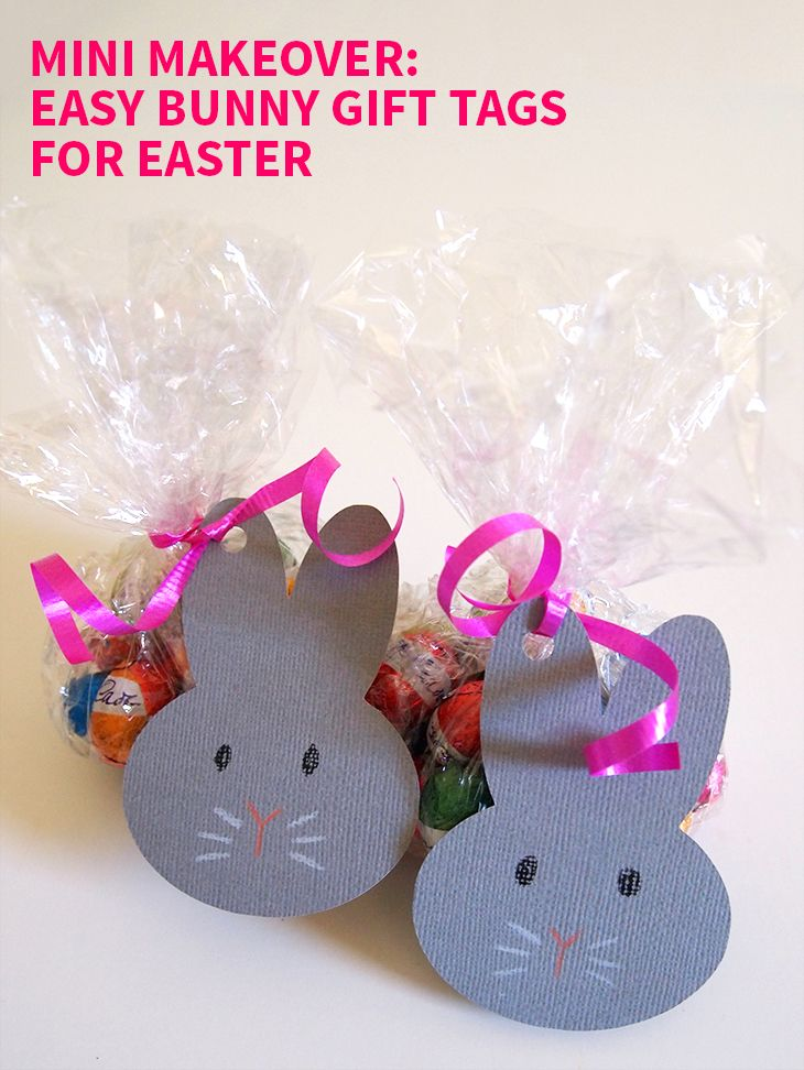 Mini makeover easy bunny gift tags for easter on style for a happy diy easy bunny gift tags for easter with template negle Choice Image