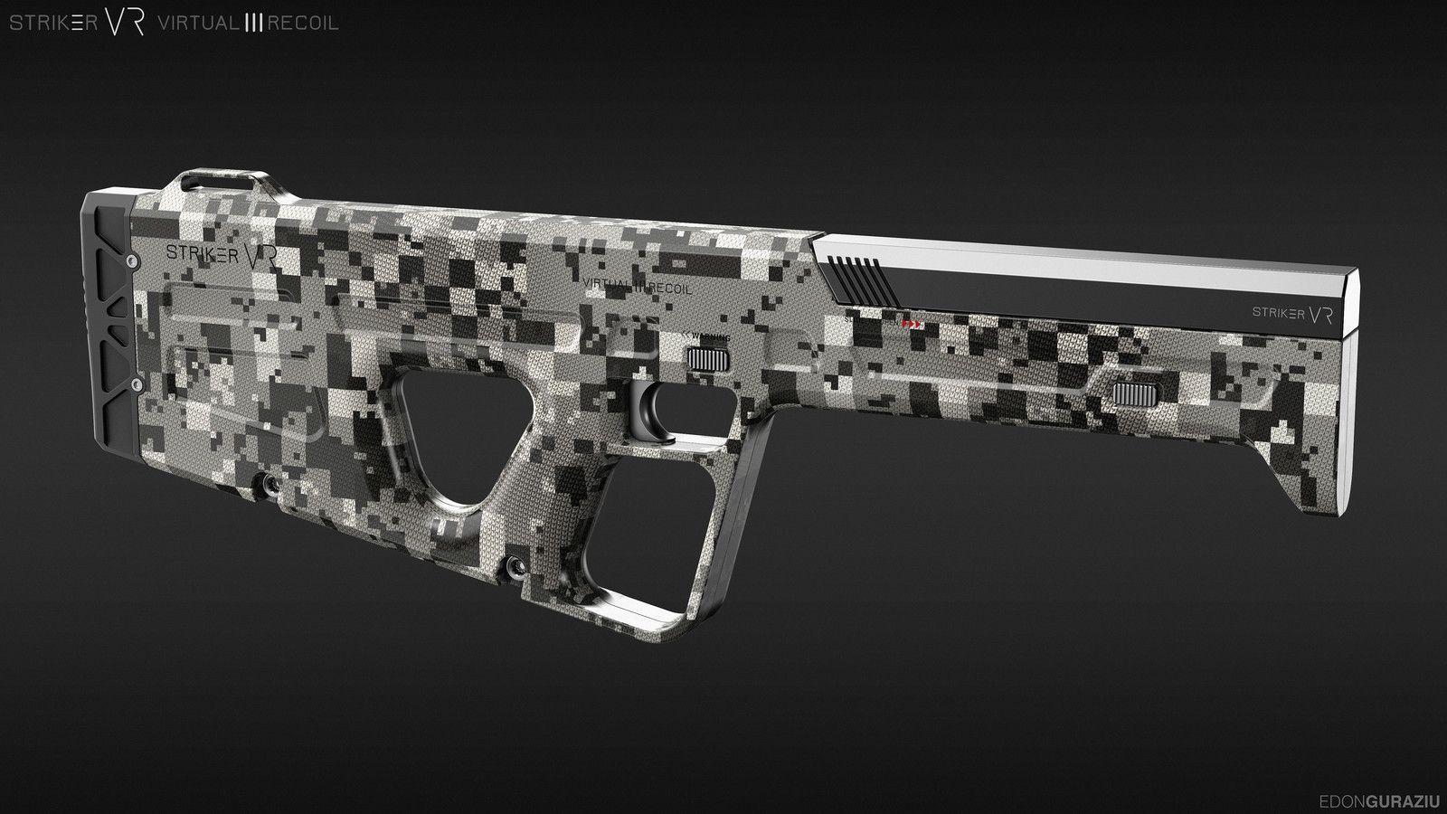 Striker VR Weapon Design, Edon Guraziu on ArtStation at https://www.artstation.com/artwork/WGAnG
